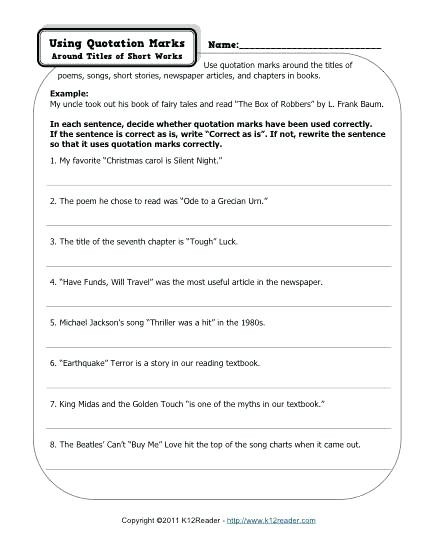 Writing Worksheets 4th Grade 4th Grade Dialogue Worksheets – Keepyourheadup