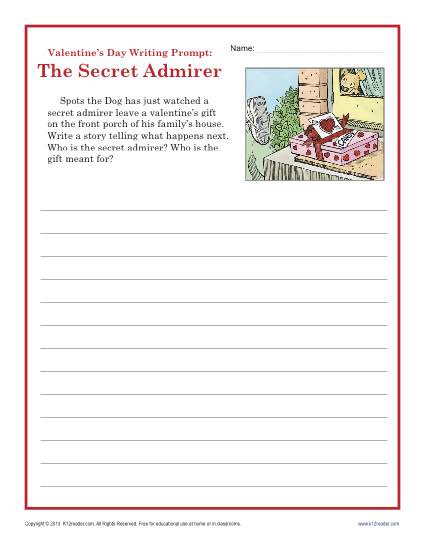 Writing Worksheets for 5th Grade Valentine S Day Worksheet