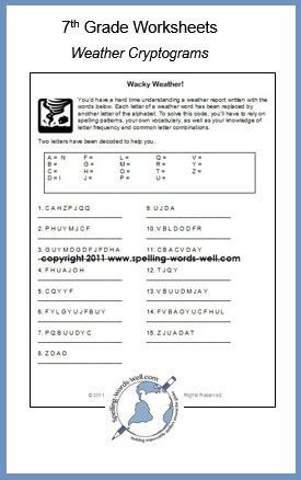 Writing Worksheets for 7th Grade 7th Grade Worksheets for Spelling & Vocabulary Practice