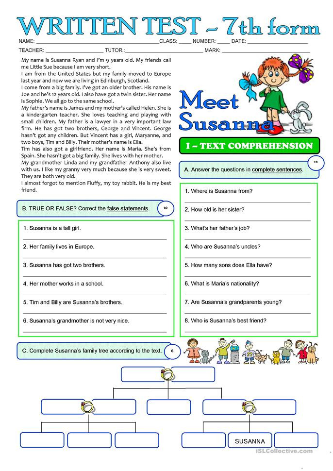 Writing Worksheets for 7th Grade Writing Help for 7th Graders