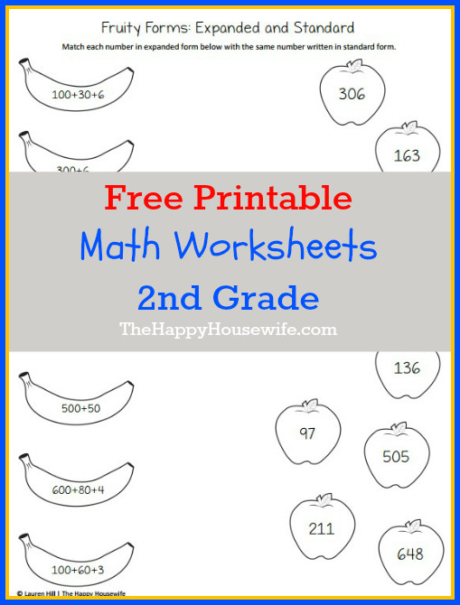 2nd Grade Math Worksheet Pdf Math Worksheets for 2nd Grade Free Printables the Happy