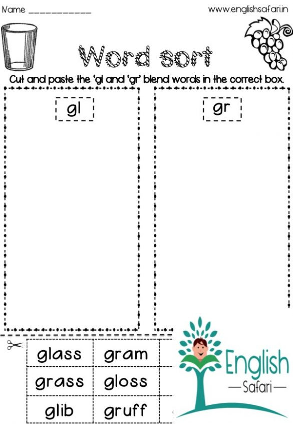 3 Letter Blends Worksheets Consonant Blends Worksheets Free