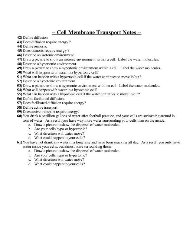 7 3 Cell Transport Worksheet Answers Biology Unit 2 Cells Exam Everything You Need to Know and