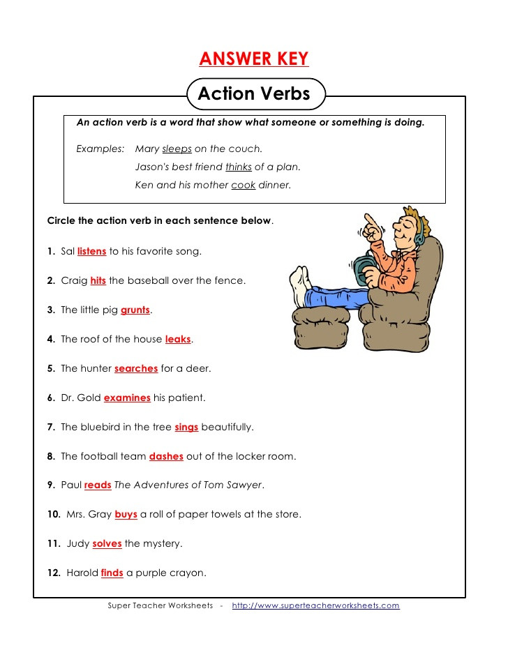 Action and Linking Verbs Worksheet Action Linking Verbs Lessons Tes Teach