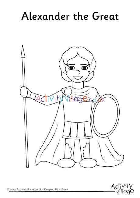 Alexander the Great Worksheet Alexander the Great Colouring Page