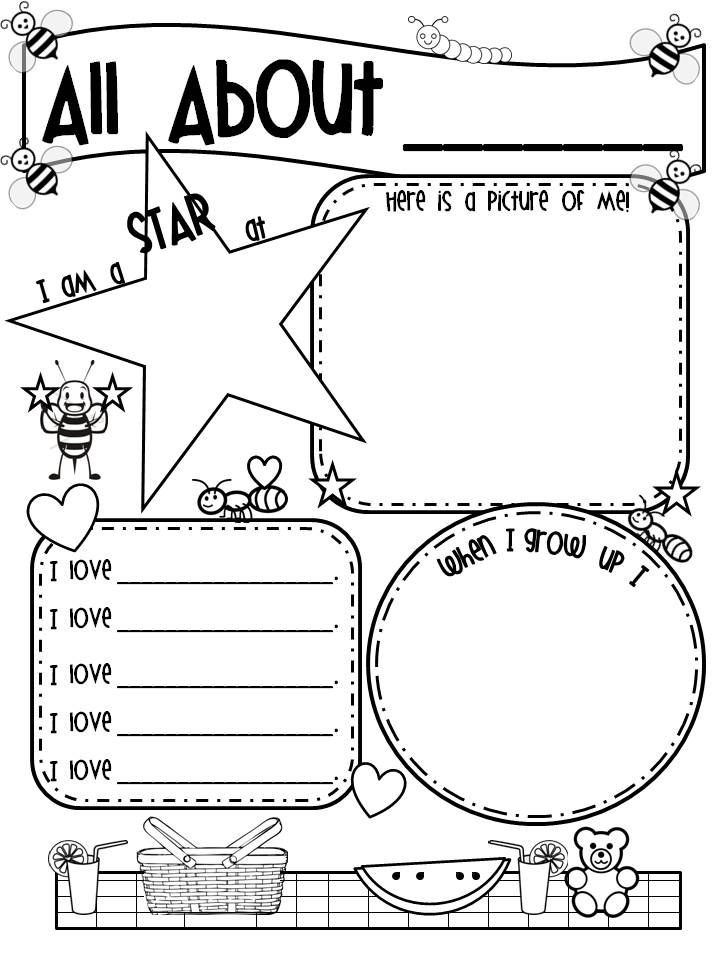 All About Me Worksheet Preschool 33 Pedagogic All About Me Worksheets