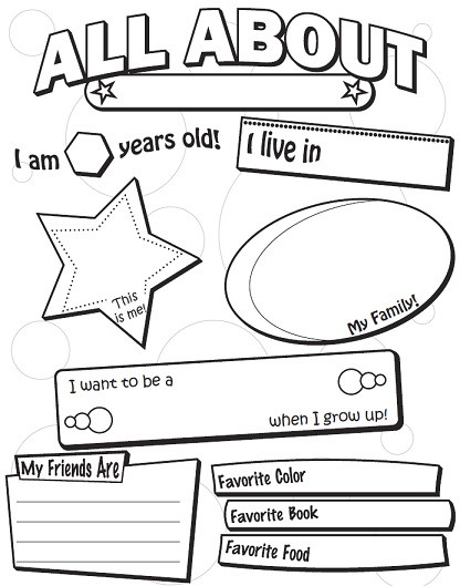 All About Me Worksheet Preschool A Back to School Worksheets