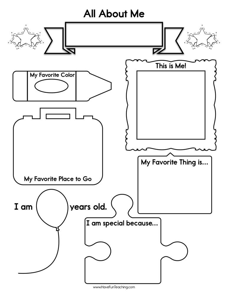 All About Me Worksheet Preschool About Me Worksheet • Have Fun Teaching