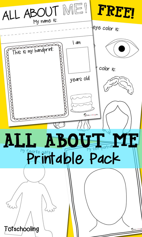 All About Me Worksheet Preschool All About Me Free Printable Pack