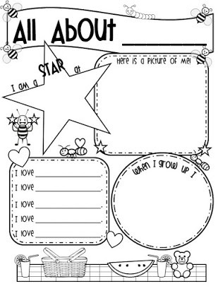 All About Me Worksheet Preschool All About Me Poster Free Printables