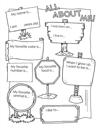 All About Me Worksheet Preschool All About Me Worksheet Tim S Printables