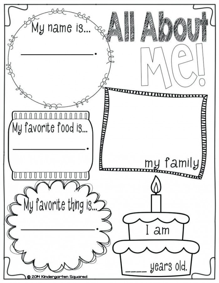 All About Me Worksheet Preschool All About Me Worksheets