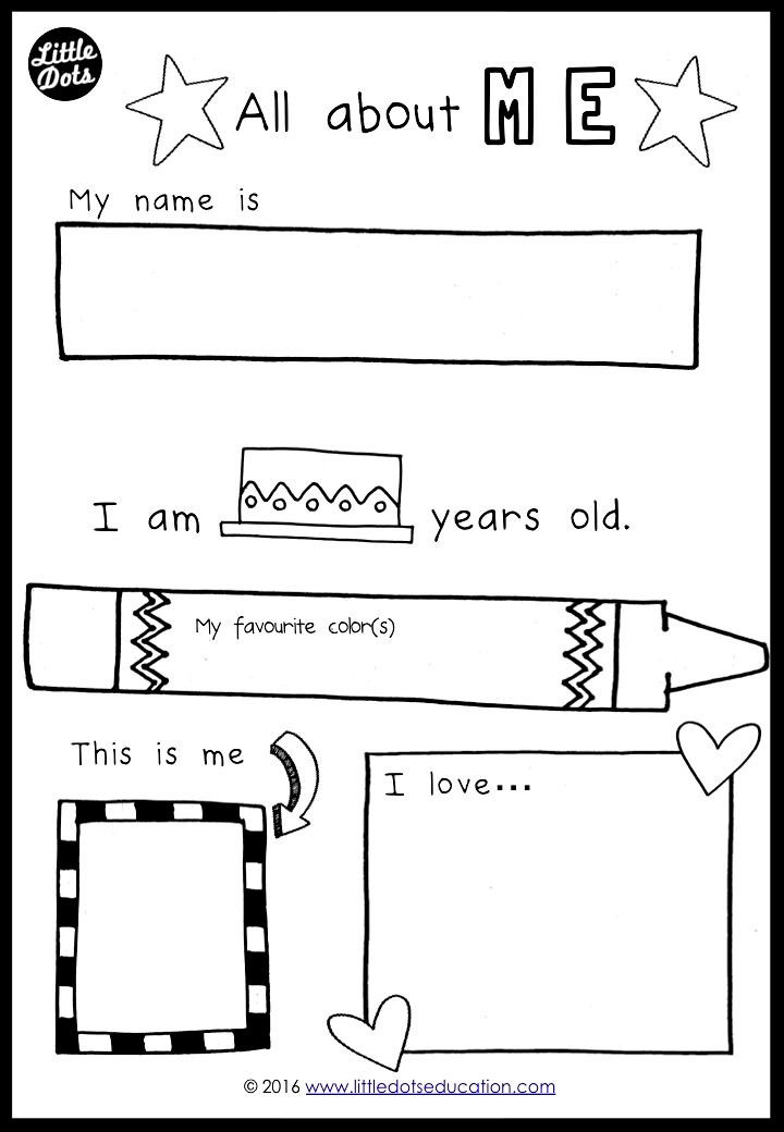 All About Me Worksheet Preschool Free All About Me Preschool theme Printable for Pre K or