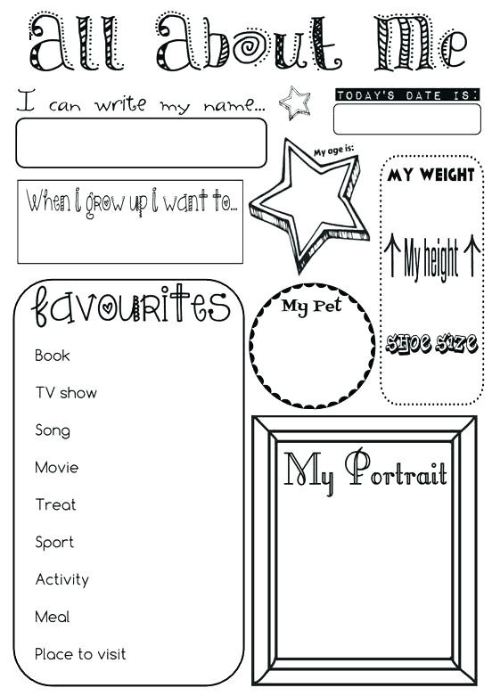 All About Me Worksheet Preschool Math About Me Worksheet Math About Me Worksheet Math