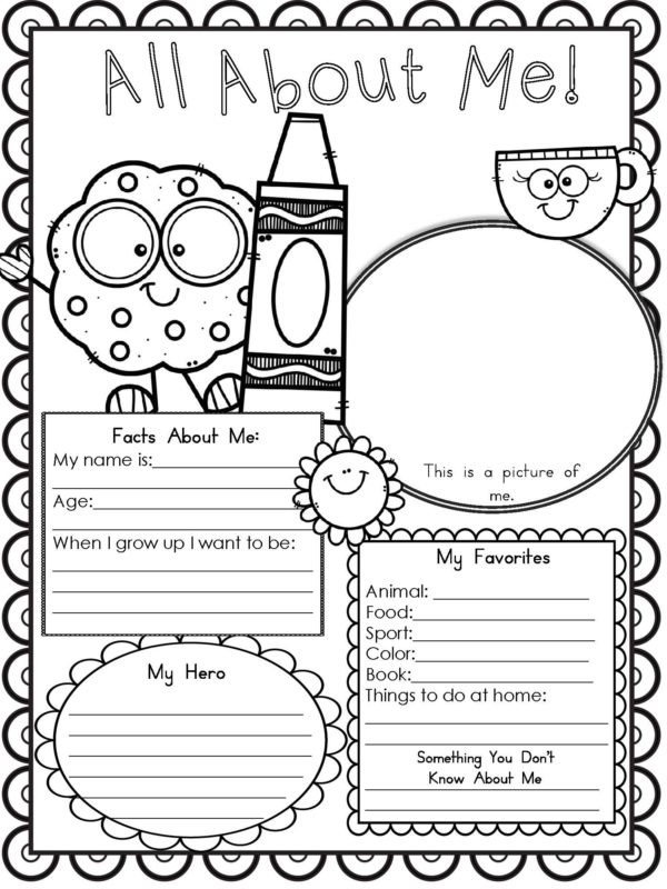 All About Me Worksheet Preschool Worksheets Archives Modern Homeschool Family