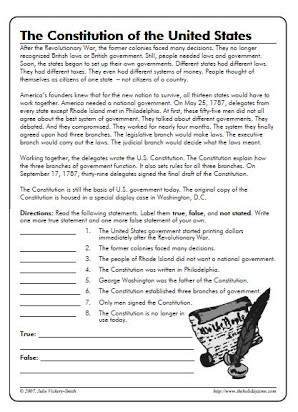 Anatomy Of the Constitution Worksheet Free U S Constitution Worksheets