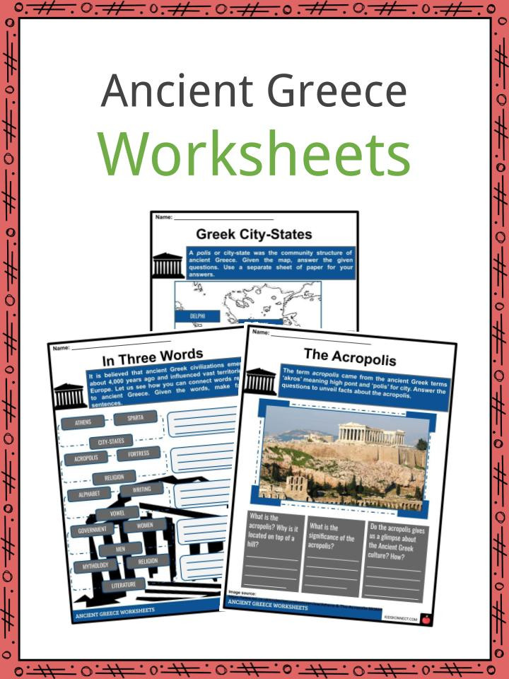 Ancient Greece Map Worksheet Ancient Greece Worksheets Facts & Information for Kids