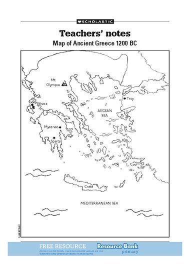Ancient Greece Map Worksheet Map Of Ancient Greece – Free Primary Ks2 Teaching Resource