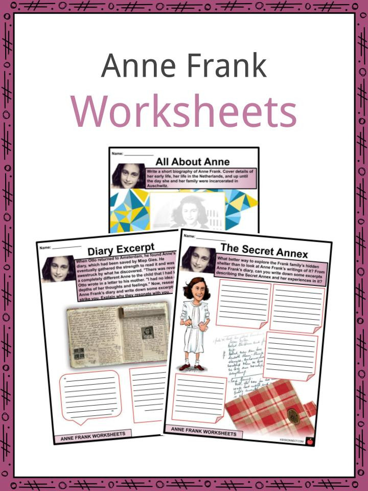 Anne Frank Worksheets Middle School Anne Frank Facts Biography & Worksheets for Kids