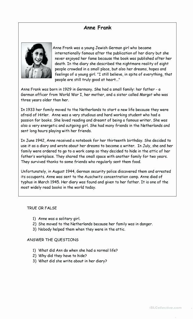 Anne Frank Worksheets Middle School Pin On Examples Printable Preschool Worksheets
