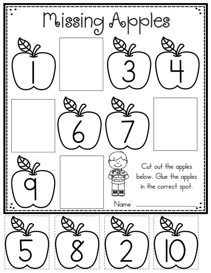 Apple Worksheets Preschool Apple Printables for Kindergarten