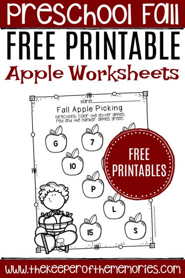 Apple Worksheets Preschool Free Printable Apple Worksheets for Preschoolers