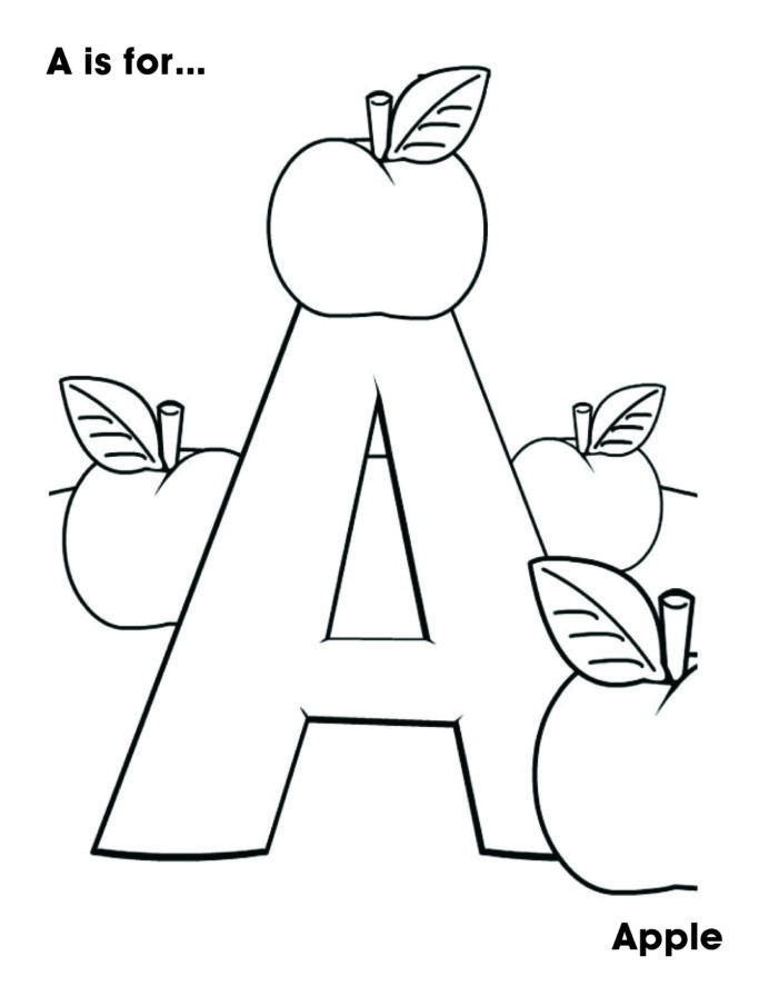 Apple Worksheets Preschool Letter the Week for My Year Old Preschool Coloring Apple