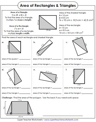 Area Of A Triangle Worksheet area Of Triangles Worksheets