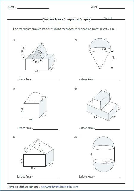 Area Of Composite Figures Worksheet area Mixed Shapes Worksheet Answers Promotiontablecovers