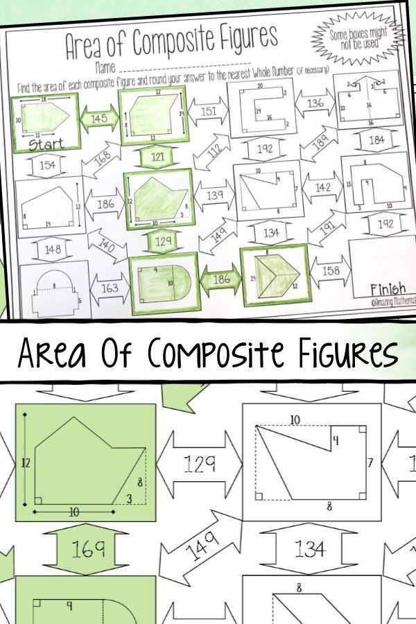Area Of Composite Figures Worksheet area Of Posite Figures Maze Worksheet