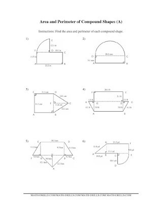 Area Of Composite Figures Worksheet Free Math Worksheets area Of Posite Shapes