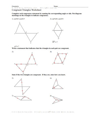 Area Of Triangles Worksheet Pdf Triangle Congruence Worksheet Pdf – Scouting Web