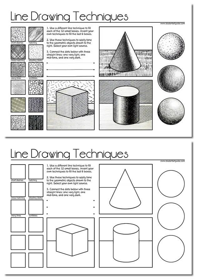 Art Worksheets Middle School Line Drawing A Guide for Art Students Art Class