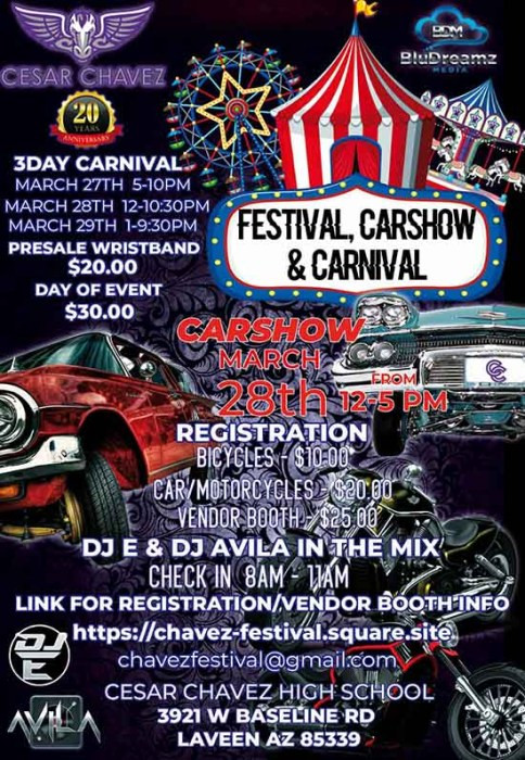 Automotive Worksheets for Highschool Students Postponed Cesar Chavez Festival Car Show and Carnival