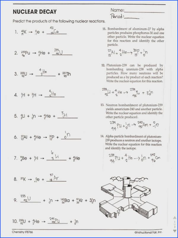 Balancing Nuclear Equations Worksheet Nuclear Reaction Worksheet Answers Worksheet List