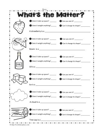 Behavior Of Gases Worksheet It Matters solids Liquids and Gas