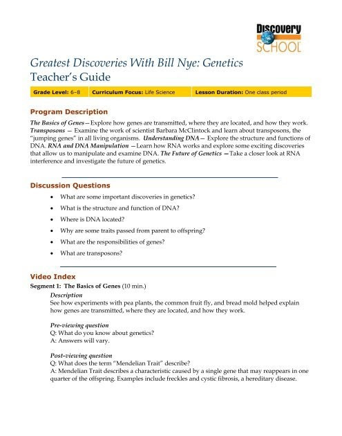 Bill Nye Genes Worksheet Bill Nye Genes Worksheet Promotiontablecovers