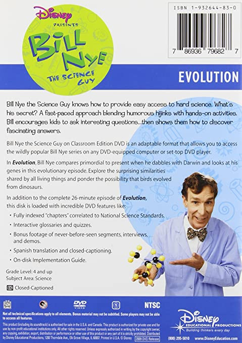 Bill Nye Simple Machines Worksheet Amazon Bill Nye the Science Guy Evolution Classroom