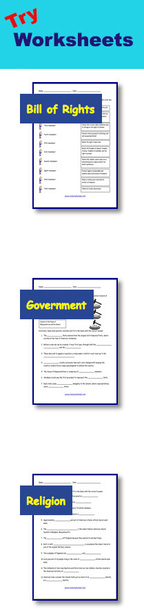 Bill Of Rights Worksheet Answers Bill Of Rights Constitution Facts for Kids