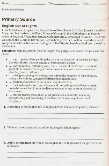 Bill Of Rights Worksheet Answers Quotes About English Bill Of Rights 12 Quotes