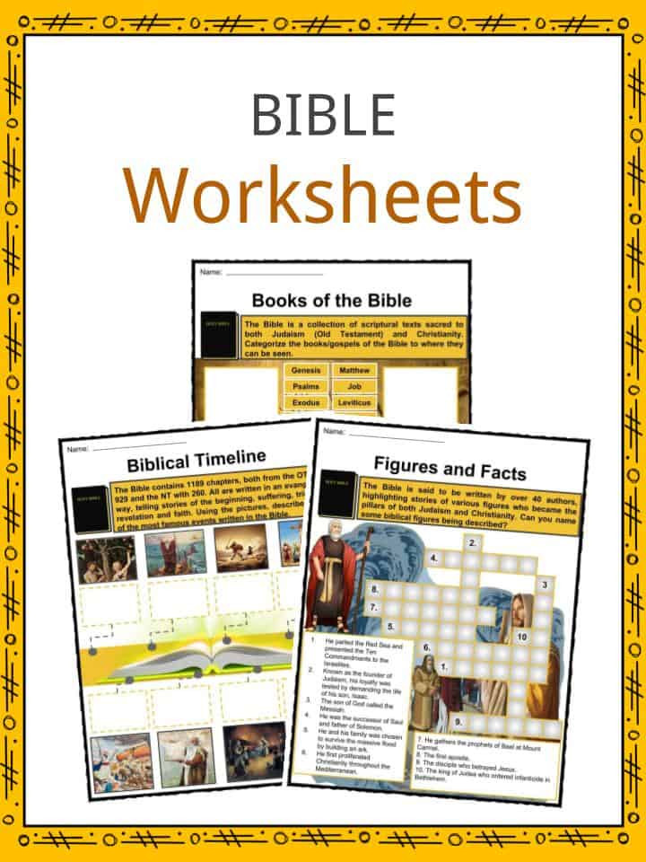 Books Of the Bible Worksheet the Bible Facts Worksheets Old & New Testament Information