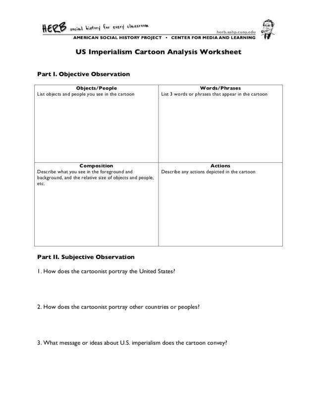 Cartoon Analysis Worksheet Answers Cartoon Analysis Worksheet Answers Worksheet List