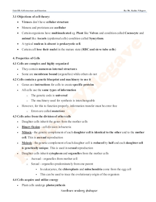 Cell Structure and Function Worksheet Unit 3 by Kailash Sir Cell Structure & Function Kp