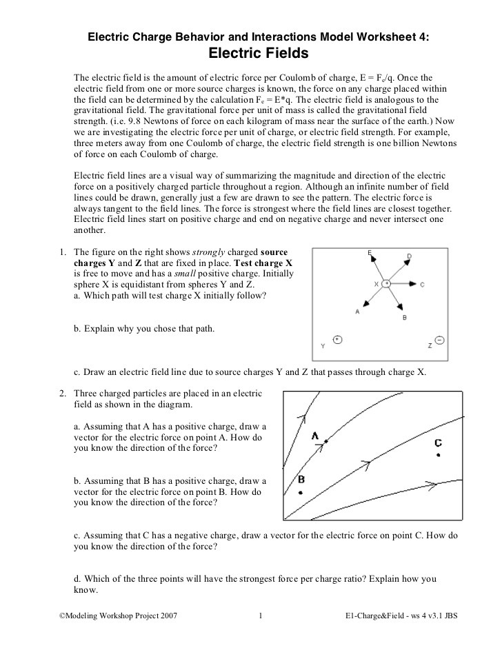 Charge and Electricity Worksheet Answers 11 E1ws4