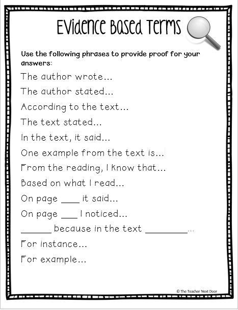 Cite Textual Evidence Worksheet Citing Text Evidence In 6 Steps