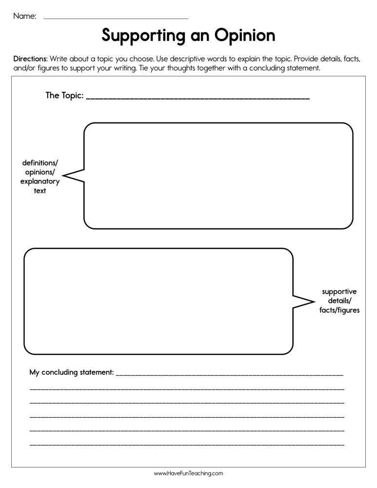Cite Textual Evidence Worksheet Supporting An Opinion Worksheet