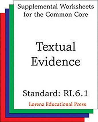 Cite Textual Evidence Worksheet Textual Evidence Ccss Ri 6 1 Aligns to Ccss Ri 6 1 Cite