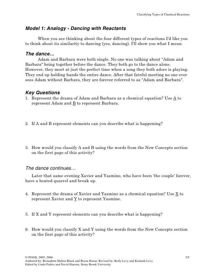 Classifying Chemical Reactions Worksheet Classifying Chemical Reactions Worksheet Answer Key 16 Best