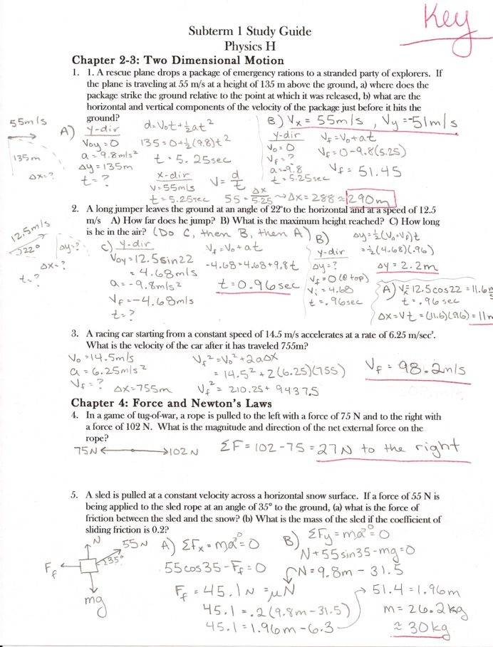 Coefficient Of Friction Worksheet Answers Ap Physics Answers Worksheets Final1 Study Guide P1 K5