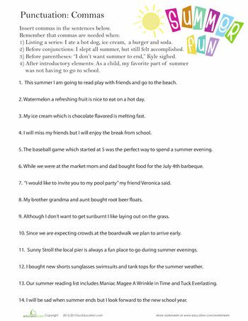 Comma Worksheets High School Pdf 108 Best Ma Rules Images